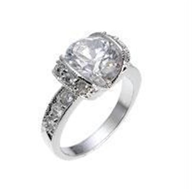 Tension Set Engagement Ring, <b>Size :</b> 08