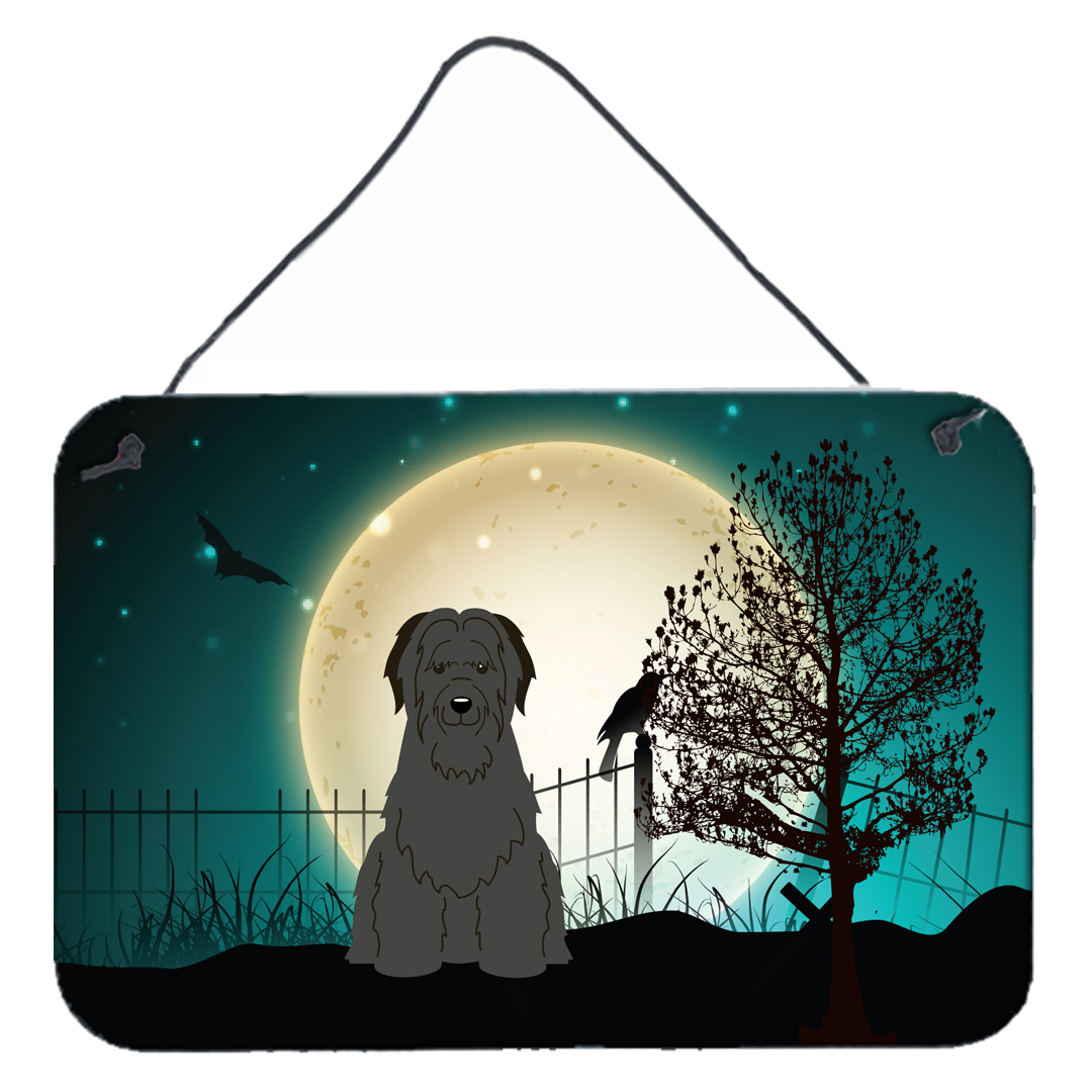 Halloween Scary Briard Black Wall or Door Hanging Prints BB2271DS812