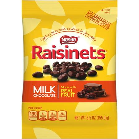 RAISINETS Milk Chocolate Covered Raisins 5.5 oz. Bag