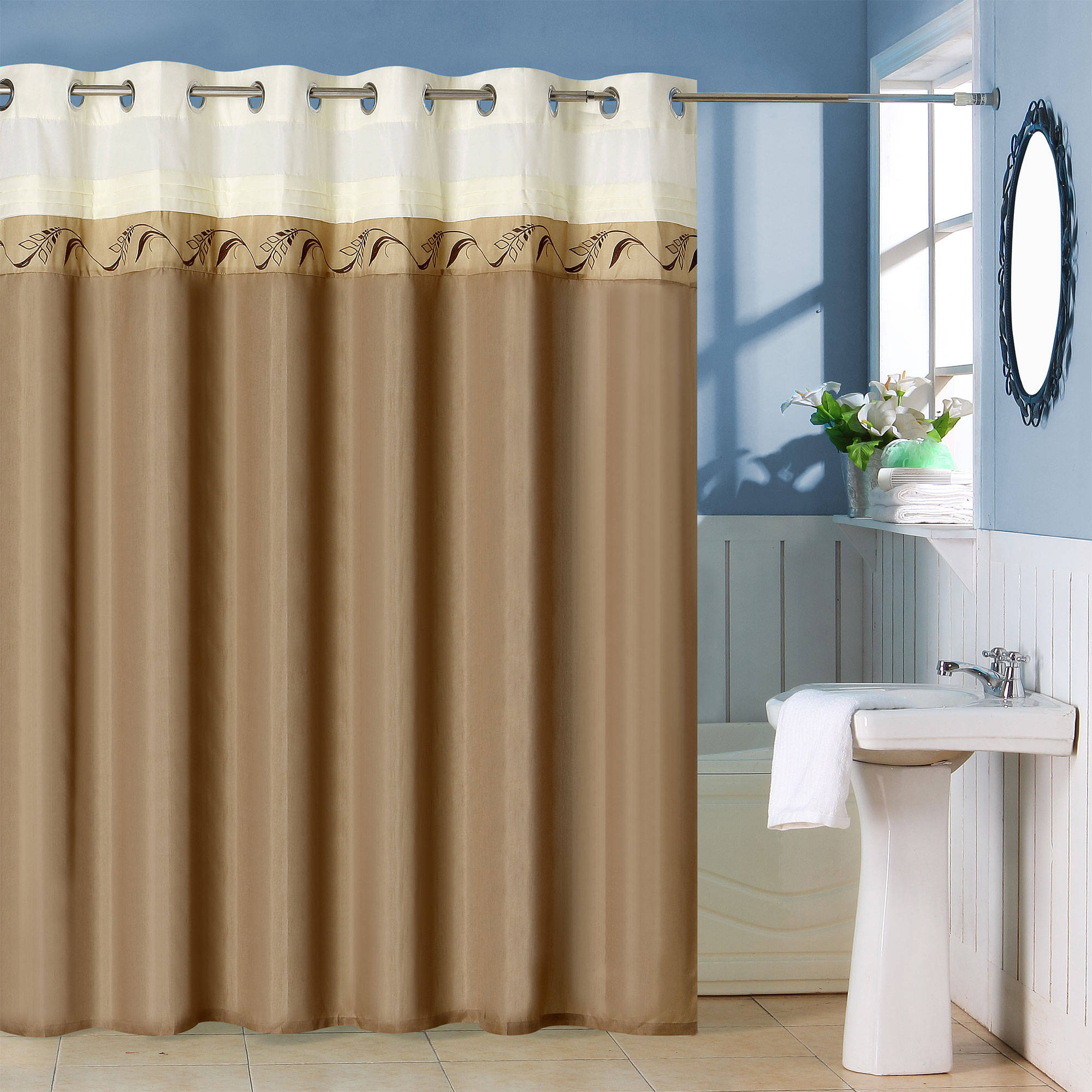 Somerset Teardrop Home Shower Curtain with Buttonholes