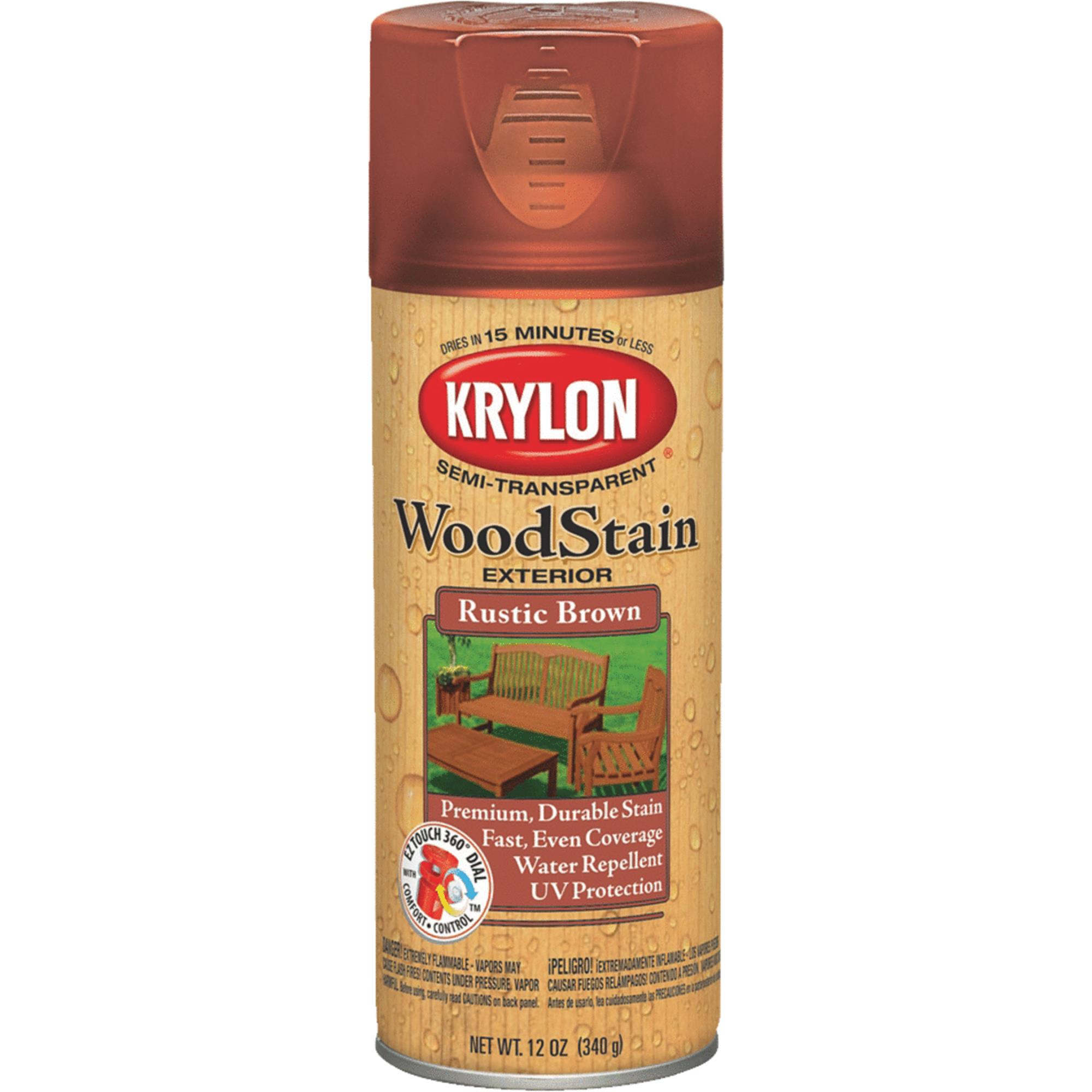 Krylon Exterior Semi-Transparent Wood Stain Spray