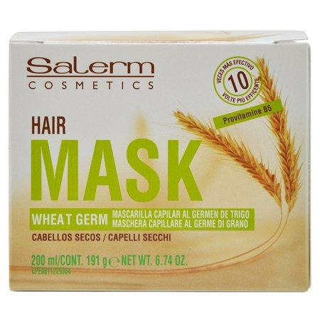 Salerm Capillary Mask Wheat Germ 200 ml / 191 g / 6.74 Oz for Dry (Best At Home Hair Mask For Dry Damaged Hair)