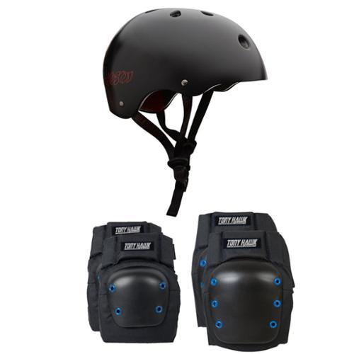 Pro Tec Skateboard Helmet CLASSIC HOSOI Size Extra Small + TONY HAWK PADS