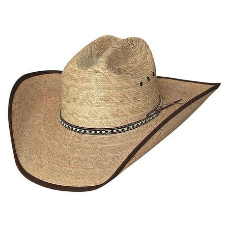 6ee3ea484a8 New Bullhide Hats WIDE OPEN 15X Palm Leaf Straw Cowboy Western Hat -  Walmart.com