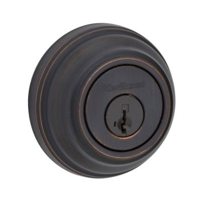 Kwikset 980 Single Cylinder Deadbolt featuring SmartKey®, Venetian Bronze, 99800-089