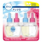 Febreze Plug Odor-Eliminating Air Freshener Refill, Downy Scent, 2 ct