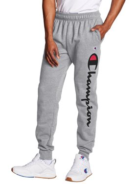 Champion Men's Powerblend Fleece Joggers with Script Logo, up to Size 2XL