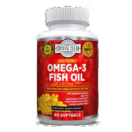 Omega 3 Fish Oil Pills Burpless Blend 60 Capsules