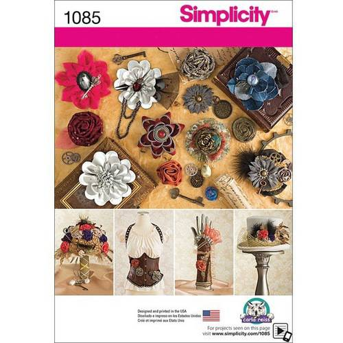 Simplicity Decorative Fabric Flowers, One Size