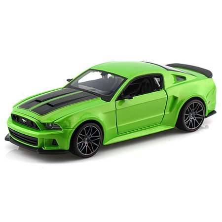 Ford Mustang Street Racer, Green - Maisto 31506 - 1/24 Scale Diecast Model Toy Car