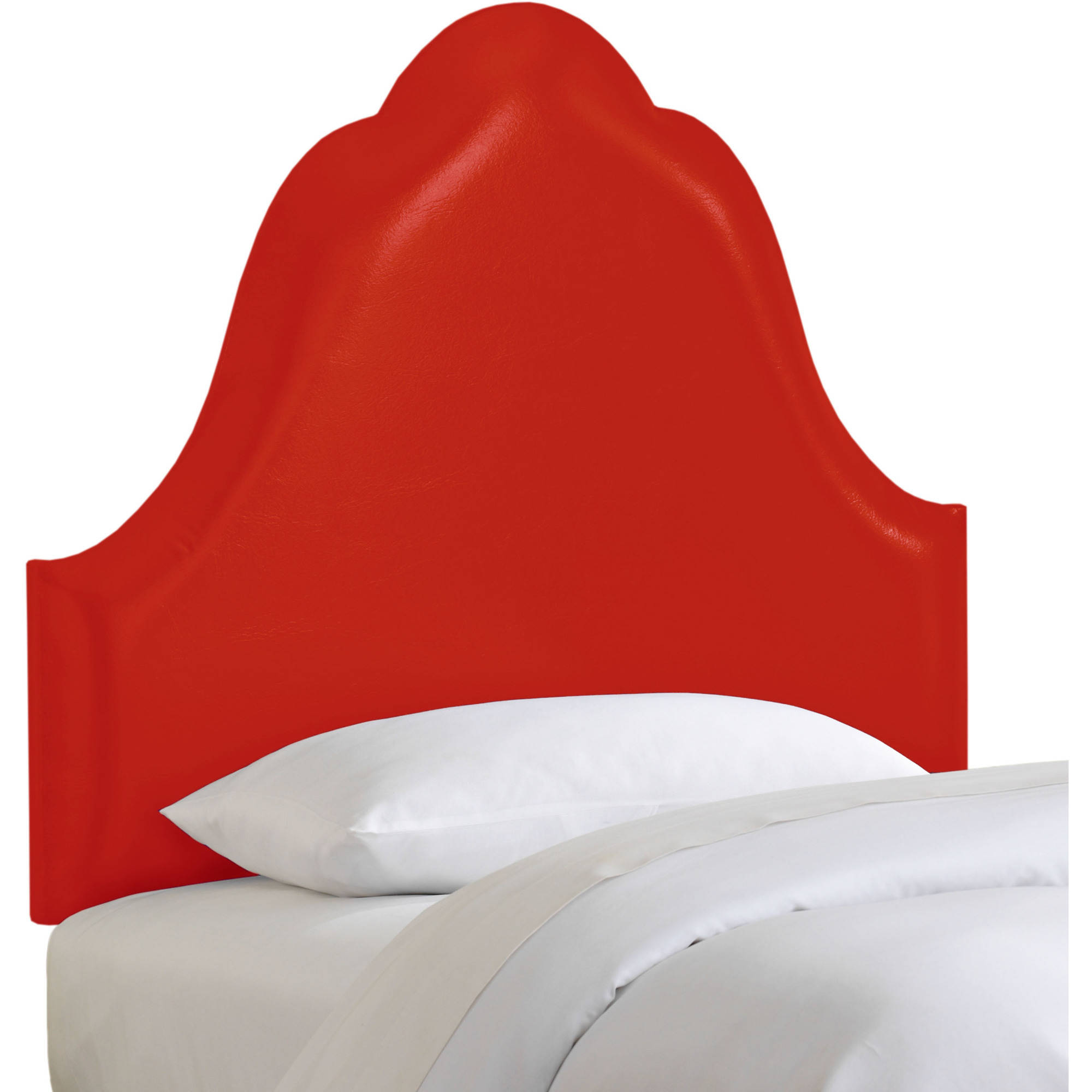 Arched Headboard in Vinyl Red, Multiple Sizes