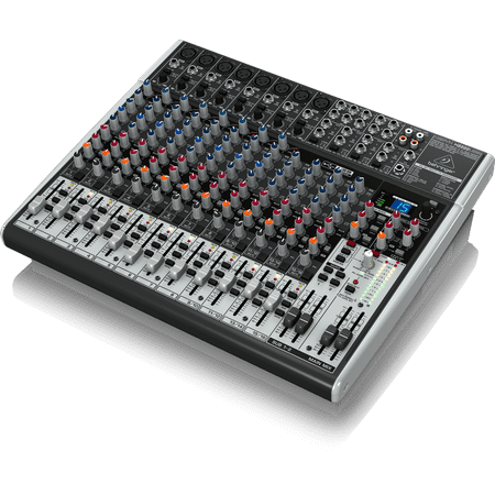Behringer X2222USB 22-Input 4/2-Bus Mixer USB Audio Interface w/ XENYX Mic Preamps, Compressors, British EQs, 24-Bit Multi-FX Processor (Mixer Interface)