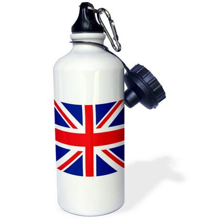 3Drose United Kingdom Flag  Sports Water Bottle  21Oz