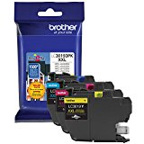 Brother LC30193PK Super High Yield C M Y Ink Cartridge Combo Pack (3 x 1,500 Yield) by Brother