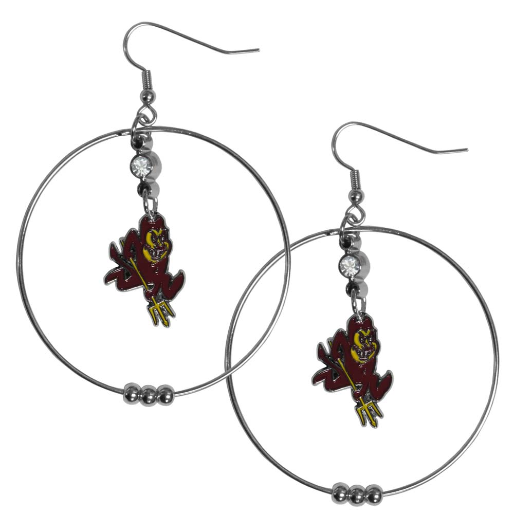 Arizona State Sun Devils 2 Inch Hoop Earrings (F)