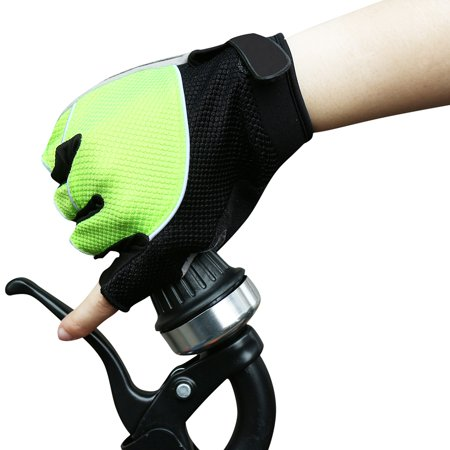 Unique Bargains Unisex Outdoor Bike Riding Cycling Gloves Half Finger Summer