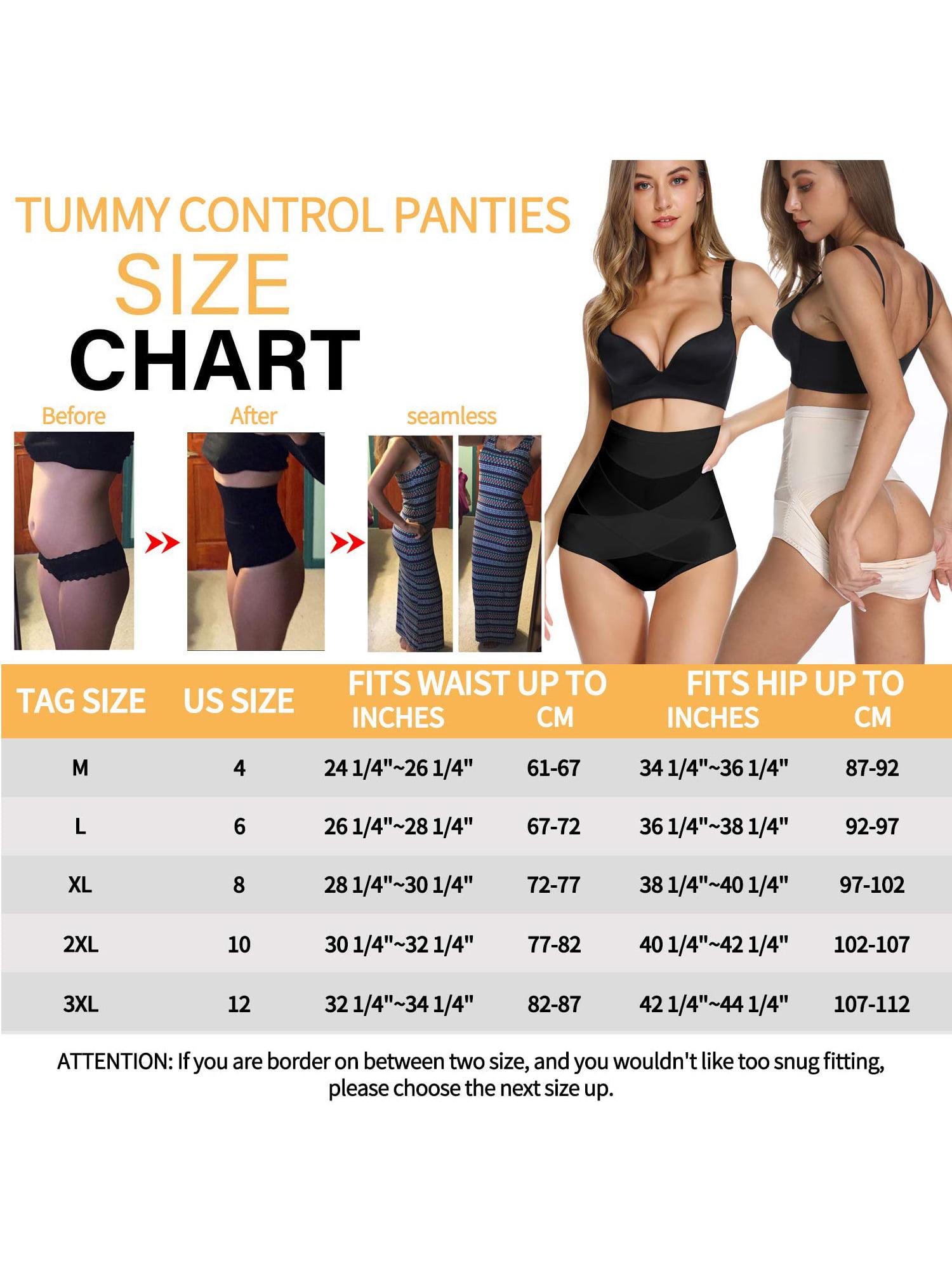 Women High Waist Body Shaper Slimming Tummy Control Shapewear Thong Plus L6L7