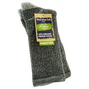 Maggie's Organics - Wool Urban Socks, Crew Black 9-11