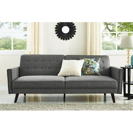 Better Homes and Gardens Rowan Linen Futon Sofa, Gray