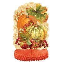 Pumpkin Harvest Fall Centerpiece Decoration, 14in