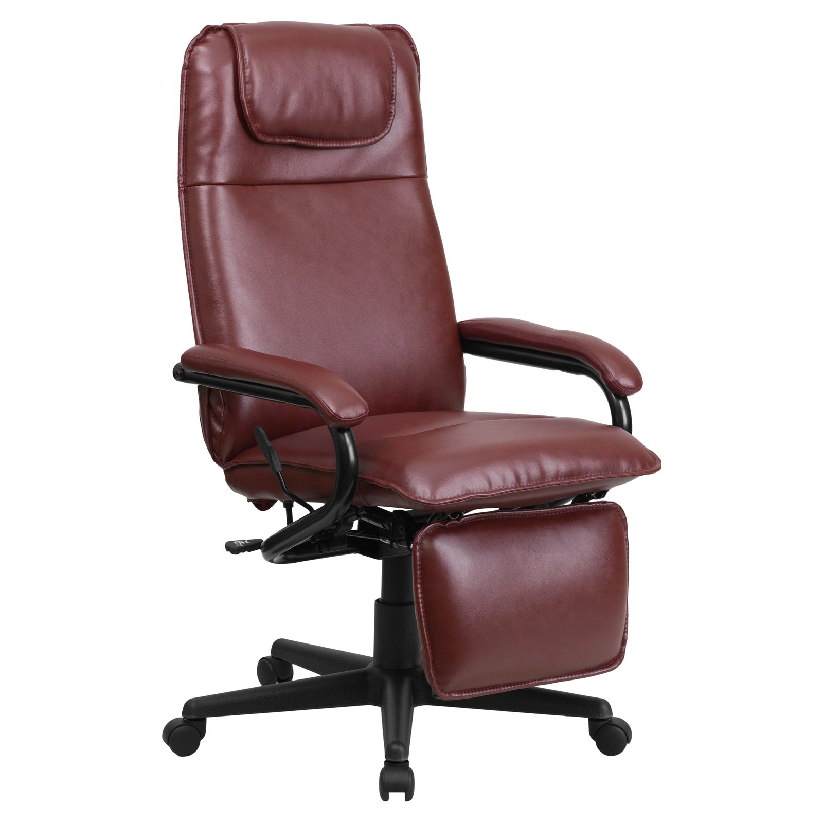 Flash Furniture High Back Leather Executive Reclining Office Chair    Walmart.com