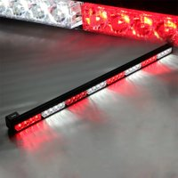 "Xprite White & Red Mix 35.5"" 32 LED Traffic Advisor Strobe Light Bar Kit"