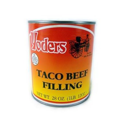 Tyco Life - Yoders Taco Beef Canned Meat 28 oz