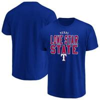 Men's Majestic Royal Texas Rangers Alias T-Shirt