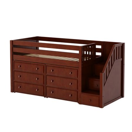 Maxtrix Kids Great3 Low Loft Bed With Storage Walmart Com