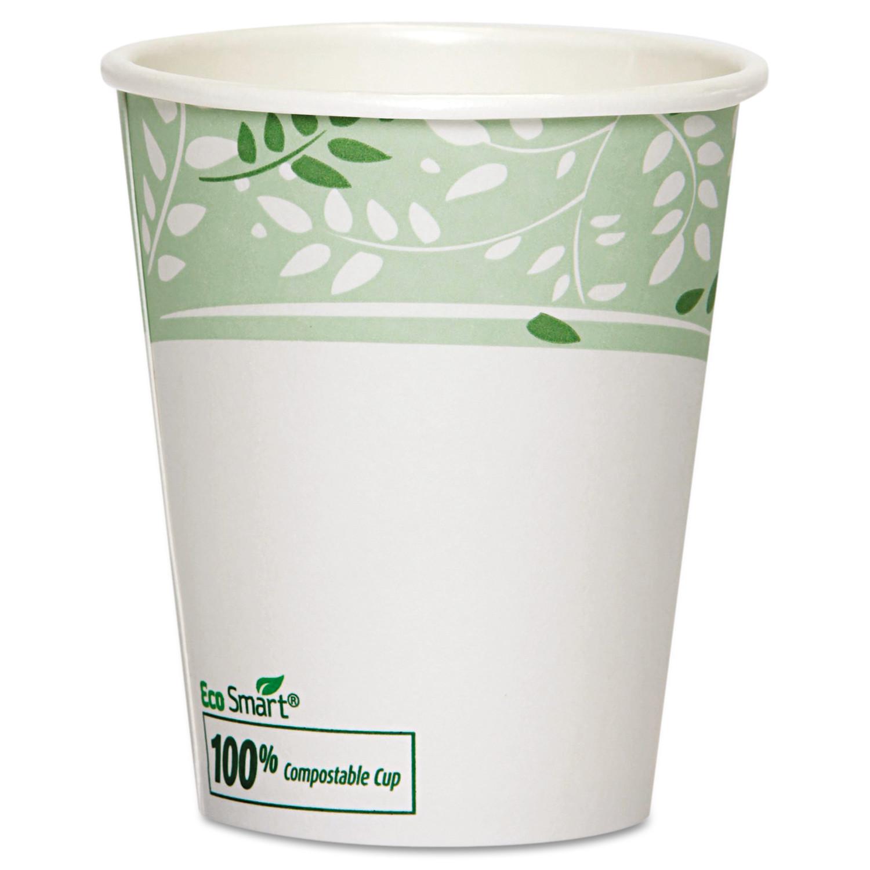 Dixie PLA Hot Cups, Paper w/PLA Lining, Viridian, 10 oz Squat, 1000/Carton -DXE2340SPLA