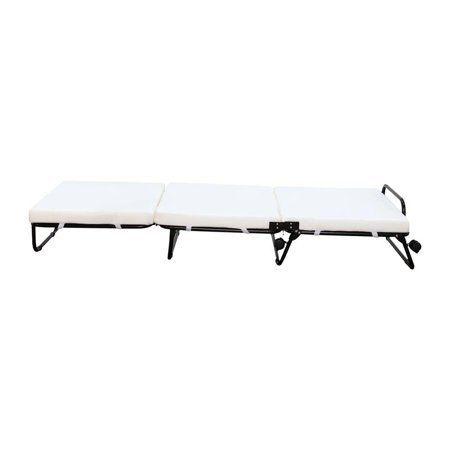 Homcom Folding Sofa Ottoman Lounge Bed Sleeper Walmart Com