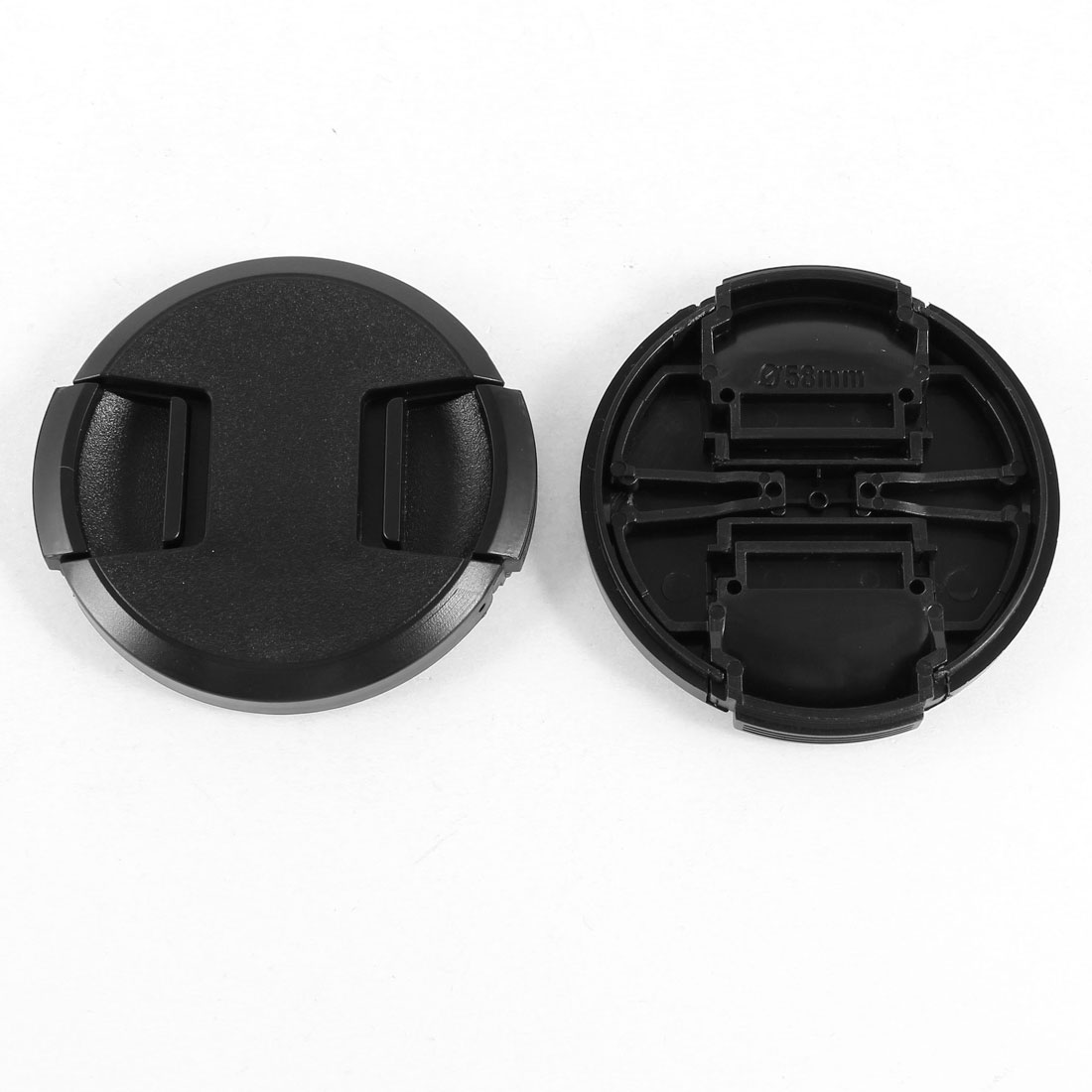 Unique Bargains 2 Pcs Black 58mm Front Lens Cap Cover Replacement for Digital Camera