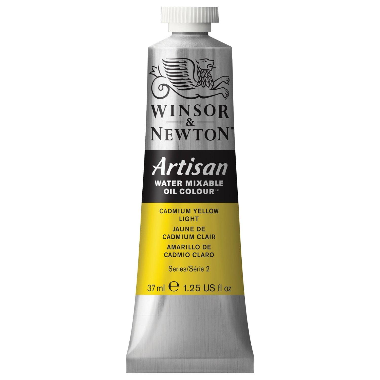 Winsor & Newton Oil Paint: Water Mixable, Cadmium Yellow Light, 37 mL