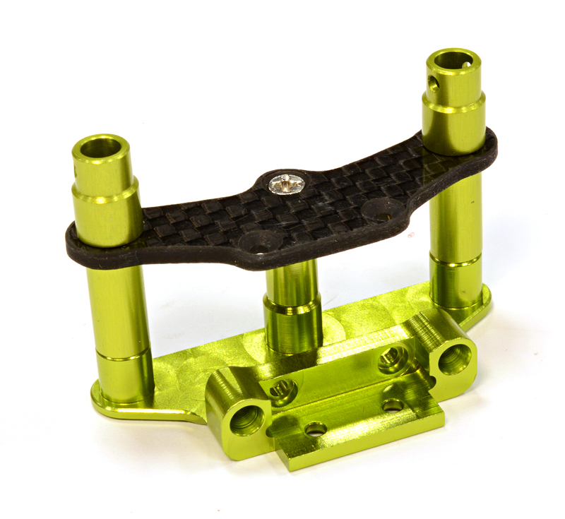 Integy RC Toy Model Hop-ups C25779GREEN Billet Machined Front Body Mount & Pin Retainer... by Integy