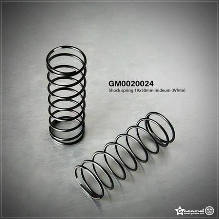 - Gmade GMA0020024 19 x 50 mm Medium Shock Spring - White, 2 Piece