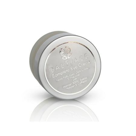 - Babyface Complete Eye Cream w/ Caffeine, Haloxyl, Eyeliss, Matrixyl & Tranexamic Acid, 0.5 oz.