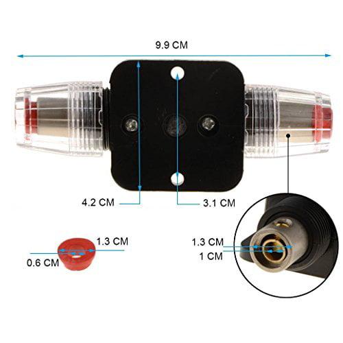 12V DC 20-100A Car Audio Inline-Sicherungshalter Für Leistungsschalter