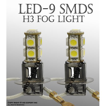 JDM H3 12V 9W 5050 LED Super White Fit Fog Light Only Light Bulbs Free Shipping