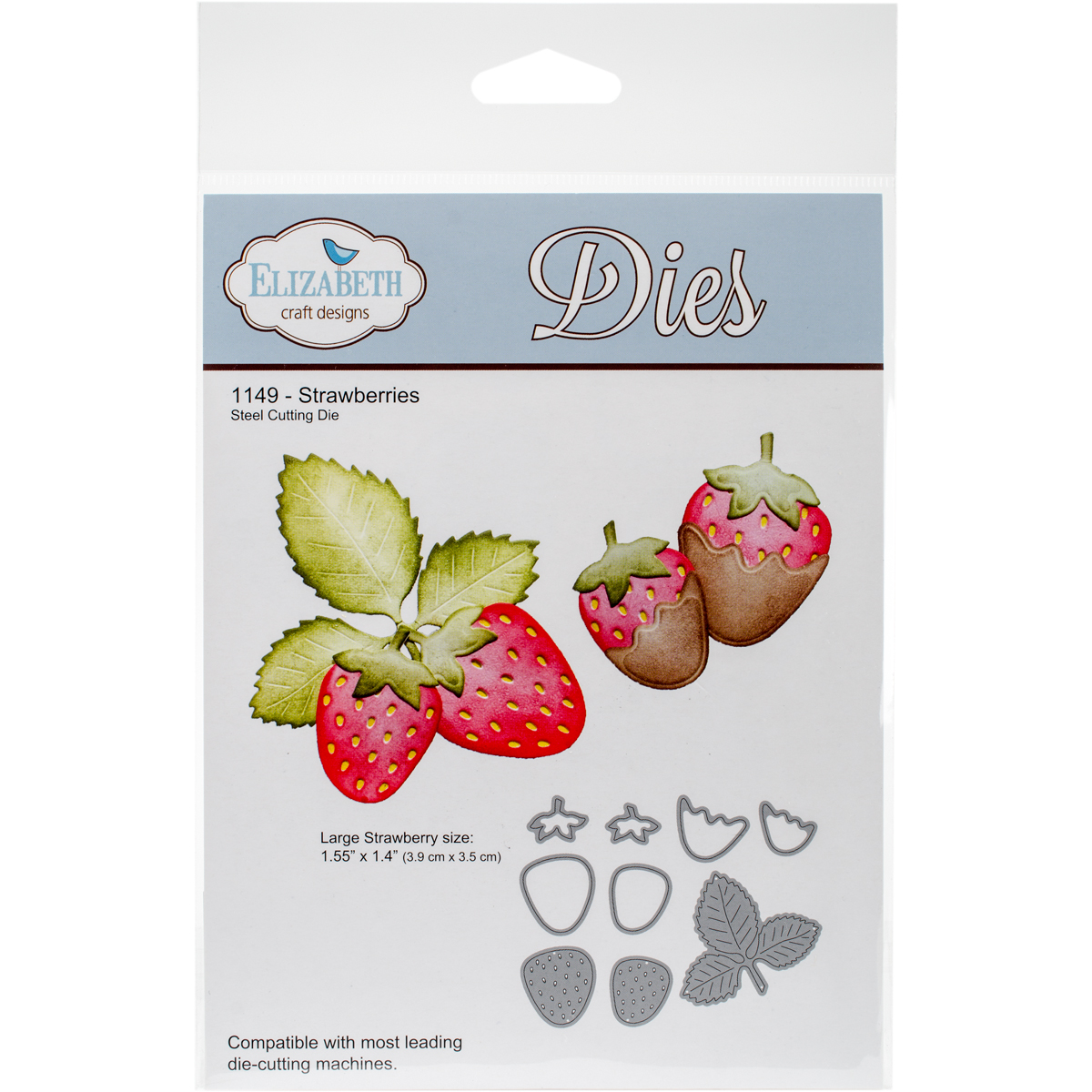"Elizabeth Craft Metal Die-Strawberries, 1.4""X1.55"""