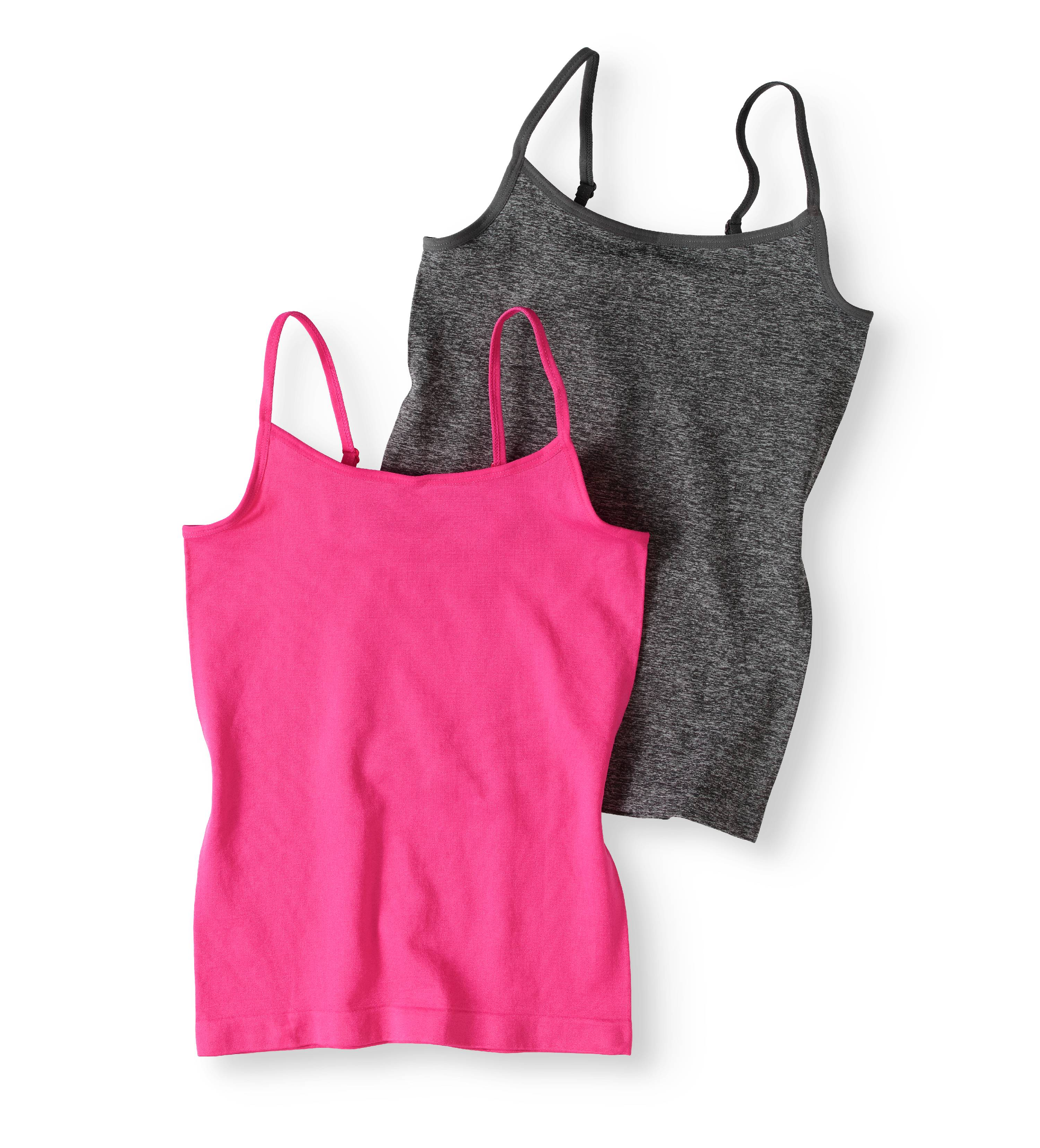 Girls' Seamless Camis, 2-Pack