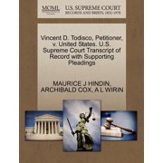Vincent D. Todisco, Petitioner, V. United States. U.S. Supreme Court Transcript of Record with Supporting Pleadings