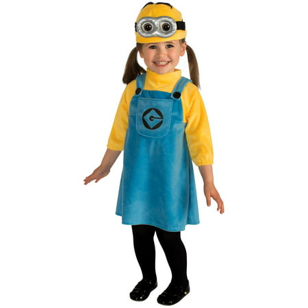Girl's Minion Toddler Costume - Homemade Ghost Costume For Toddlers