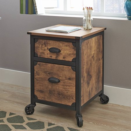 Better Homes and Gardens Rustic Country File Cabinet, Weathered Pine Finish