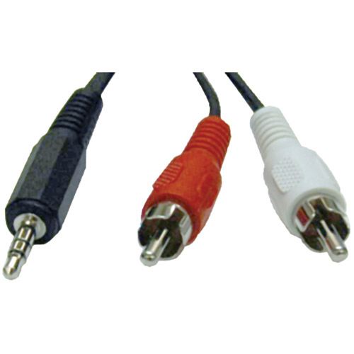 Tripp Lite P314-006 3.5mm Audio Cable Y-Adapter, 6'