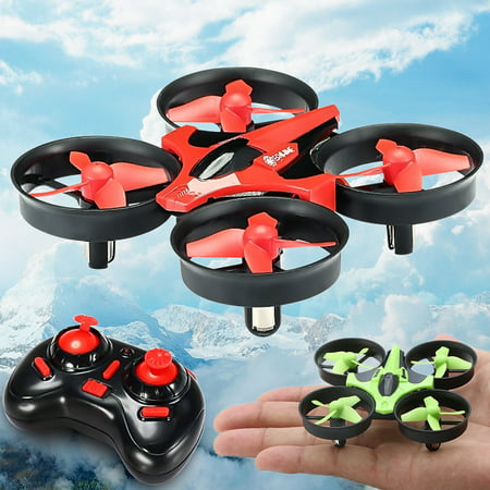 Eachine E010 Mini RC Drone Micro Helicopter Toys, 2.4G Mini UFO Quadcopter with 6-Axis Gyroscope, Headless Mode 3D Flip One Key Return Best Gifts For (Best Coaxial Rc Helicopter)