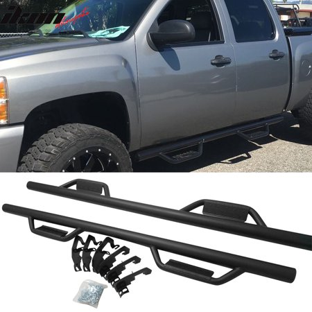 - Ikon Motorsports Running Boards for 07-19 Chevy Silverado GMC Sierra Crew Cab