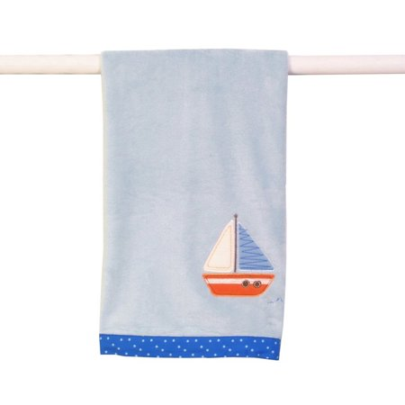 Sumersault Tiny Trips Blanket, Blues (Discontinued by Manufacturer)