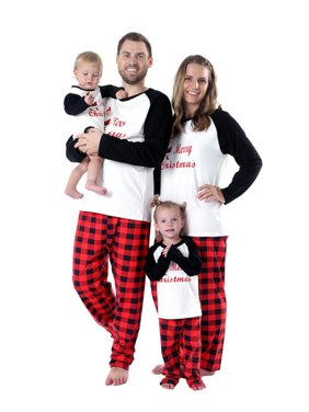 Matching Christmas Santa Claus Printed Pajamas For Family Cotton Sleepwear