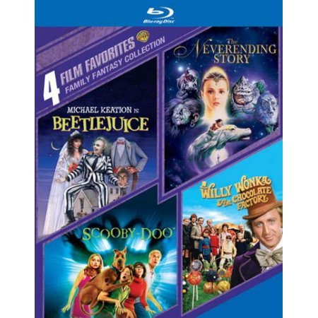 Family Fantasy Collection  4 Film Favorites  Beetlejuice   The Neverending Story   Scooby Doo   Willy Wonka And The Chocolate Factory  Blu Ray   Widescreen
