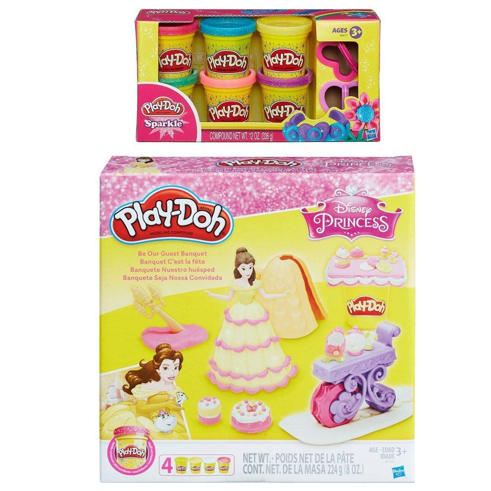 Play-Doh Be Our Guest Banquet Featuring Disney Princess B...